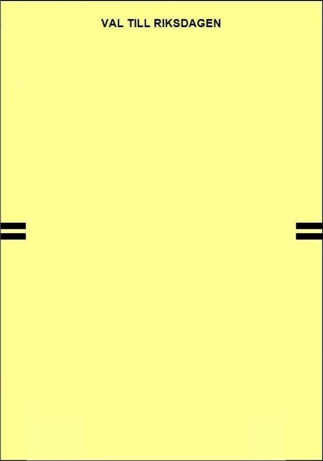 Bild på tom valsedel för Riksdagsval