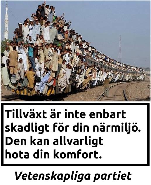 Bild på ett tåg fullastat med människor