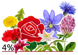 Valsamverkanspartiets blommiga logotype