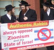 Bild på rabbiner som är emot sionismen och staten Israel