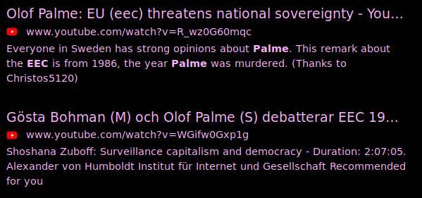 Bild på DuckDuckGo-sökning på Olof Palme EEC