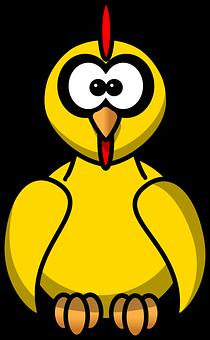 Bild på dum tupp-kyckling