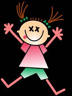 tecknad flicka som leker medveslös